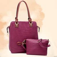 New Arrived 2013 fashion crocodile pattern bag  women's work bag vertical section one shoulder handbag women's handbag