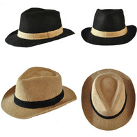2013 Fashion Hats for Men Natural linen summer straw cowboy hat men and women jazz hat sun hat