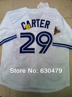 Free Shipping Toronto Blue Jays #29 Joe Carter American baseball jersey good quality Embroidery and Sewing logos size:M-XXXL
