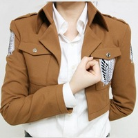 Cotton Shingeki no Kyojin Coat Attack on Titan Scouting Legion Cosplay costume Survey Corps Jacket for Halloween party