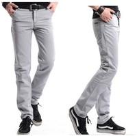 2014 Men's regular flat Long dress pants&casual cotton trousers for men brand  new black khaki