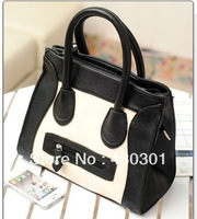 2013 New women handbag bags  Hot sale fashion PU leather canday color smail face portable handbags