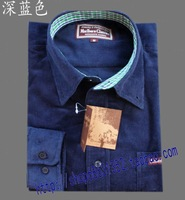 Free shipping high-end men's 100% cotton long-sleeved shirt, the quality is very good size MLXLXXL