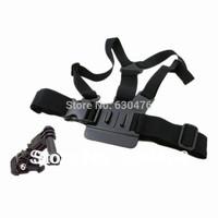 Free shipping 3-Way Adjustment Base Mount + Adjustable Chest Strap Shoulder Belt for GoPro  Hero 2/ 3/ 3+/ 4 Gopro accessories