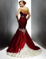 Free Shipping ASD007 Fishtail Lace Wedding Dress Custom Wedding+ 100%Chiffon
