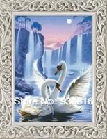 Diamond painting square drill full rhinestone animal swan lake diamond lovers painting diamond