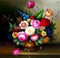 Print cross stitch oil painting vase flower herbal series big picture diamond painting