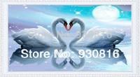 Diy 3d love white swan diamond painting diamond square drill