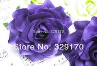 "2 purple rose Artificial Silk Flower Heads Wedding Wholesale lots 4""/10cm sf1"