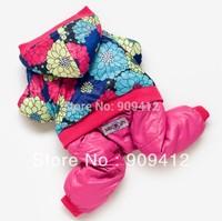 New Designer Wonderful Flowers Doggie Clothes Pet Winter  Clothing Teddy Pomeranian Clothes XS/S/M/L/XL