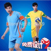 Free Shipping fashion men's brand 100% polyester breathe freely sportwear jerseys football for men soccer training suit set