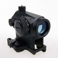 Mini T-1 Telescopic Sight Illuminated Red Green Dot Sight With Quick Release Scope Mount For Hunting Camping