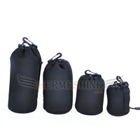 4pcs Neoprene Soft Protector Camera Lens Pouch bag case Set Size: S M L XL-AKT086