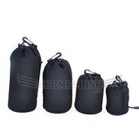4pcs Neoprene Soft Protector Camera Lens Pouch bag case Set Size: S M L XL-AKT086
