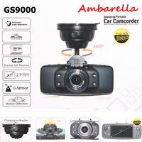 "Car black box Ambarella Newest Original GS9000 Car DVR 2.7"" LCD H.264 HDMI G-Sensor 178 Degree Wide Angle FHD1080P Recorder cam"