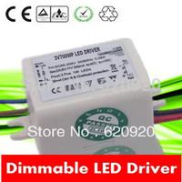 1X3W Mini dimmable led driver 3V 600ma constant current 110v 220V input 5-100% dimming leading edge trailing edge  transformer