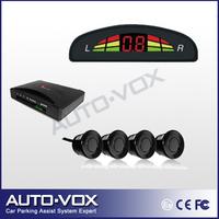 Car Parking Sensor Reverse Backup Radar System with Alarm Beep LED Indicator Display (black,white,silver)