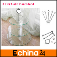 3 Tier Cake Plate Stand Fittings Silver Plate Stands(no plates) for Tea Shop Room Hotel Weding Party Free Shipping