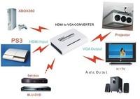 High Quality 1080P HDMI to VGA + Audio HDTV Video Converter Free shipping+Dropshipping