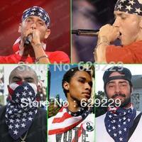 "The United States flag straight square 100% Cotton hiphop rap bboy Bandana wrap scarf wristb Headband 22""*22"" Free Shipping"