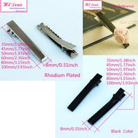 Wholesale Rhodium/Black Color 35-100mm Iron Metal Prong DIY Hair Barrettes/Aligator Clips/Hairpins/Pins Hairwear Accessories/FJ1
