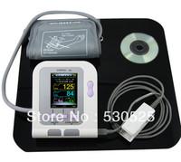 CE FDA Approved CONTEC08A  Digital Blood Pressure Monitor + Adult Cuff +Adult SpO2 Probe + Color LCD
