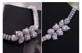 Geometrical Shape Sparkling Swiss Cubic Zirconia Diamond Designer Bracelet Made With Swarovski Element Crystal  Bangle Jewelry