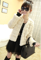 Drop  Shipping Fashion Good Quality  Elegant Slim Long Sleeve Female Wool  Short Suit Jacket
