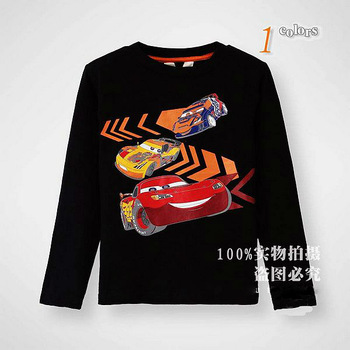 2013 new arrival Europe design boys brand t shirt cartoon cars kids t shirt children clothing