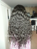 New fashion beauty made of brazilian virgin human remy hair curly u part wigs natural hairline for african americans