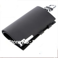 Sale high quality genuine leather car key case wallet bag pouch keychain purse holder for mercedes BMW ford audi honda toyota