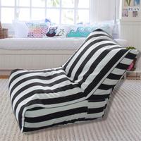 Indoor and outdoor zebra bean bag recliner cover only