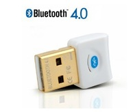 Free Shipping 4.0 White Mini USB Bluetooth adapter dongle Laptop PC Bluetooth Cellephone Headset