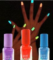 2pcs  The series of 20 color Fluorescent Neon Luminous Nail Polish Glow in Dark Nail Varnish Nail Enamel Free shipping