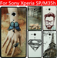 19 species pattern black side cover case for Sony Xperia SP case Sony Xperia SP cover Sony M35h case