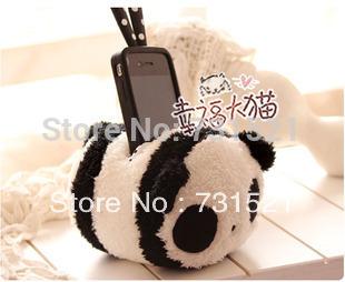 Cell phone holder creative gift modelling of panda short plush toy