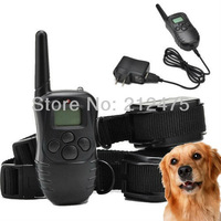 New 300M 100LV Rechargeable and Waterproof Electric Pet Dog Shock Training Collar trainer Products Shock + Vibrate Collar