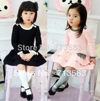 New autumn fashion  Cotton long-sleeved  Korean girls lady cake dress,1pcs/lot