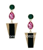 Free shipping wholesale fashion jewelry stone big stud earrings