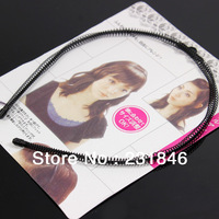 1pcs Spring Wave Hairpin Hair Hoop Head Band Findings Clip Wavy Headband Hair Accessories Make up Tool Black