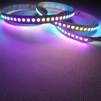 Mini Order 1M 144 LEDs 5050 RGB SMD WS2811 IC non-Waterproof Digital LED Strip Addressable Color 5V
