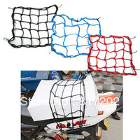 6PCS FREE SHIPPING! Motorcycle accessories NET 6 Hooks 30*30 Motorcycle Bungee Cargo Net Helmet Net