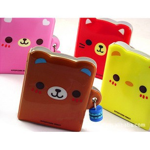 Korean Cute Mini Diary Book with Lock Notebook Journal Diary Combination Lock wholesale 10*8cm Free shipping 110(China (Mainland))