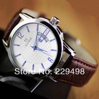 Top Quality Newest Fashion Men Genuine Leather Strap Quartz Calendar Date Watch, PC Movement Swiss Daybird Steel Watches