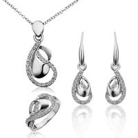 18K Real Gold plated Fashion Jewelry Set With Crystal Stellux Top Quality 18K Gold Plated Women Jewelry Set,Nickel Free!S225