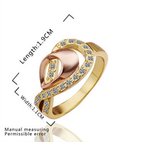 2014 Fashion Style!18K gold plated Shining Full Crystal Finger Ring For Woman Luxurious Noble Paragraph Fashion R258