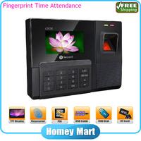 "Free Shipping Realand ZDC30 USB 2.8"" Color TFT Time Attendance Biometric Fingerprint Machine"