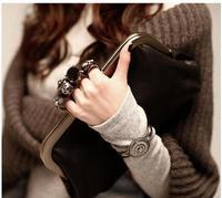 free/drop shipping 2014 new fashion shoulder bags clutch acrylic transparent cosmetic storage handbag shoulderWFCCL00195