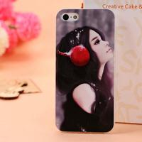 HOT Lovely Girl Hard Plastic Case Cover for iPhone 5