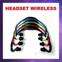 Free shipping Wireless headset wireless headset ear style fashion sports card headset MP3 with FM radio